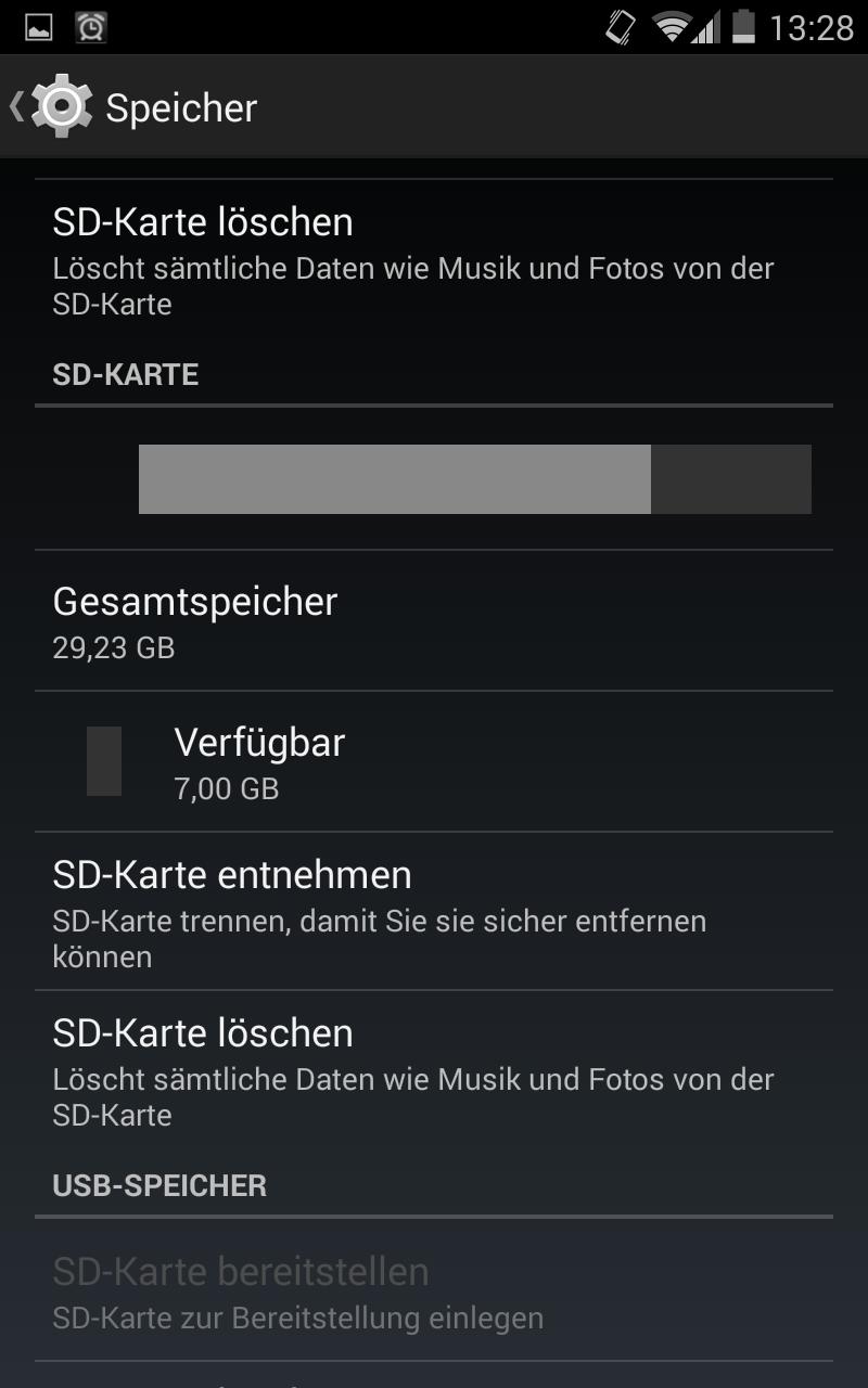Galaxy Note 1 N7000 Angepasster Platz Für Apps 8gb Statt