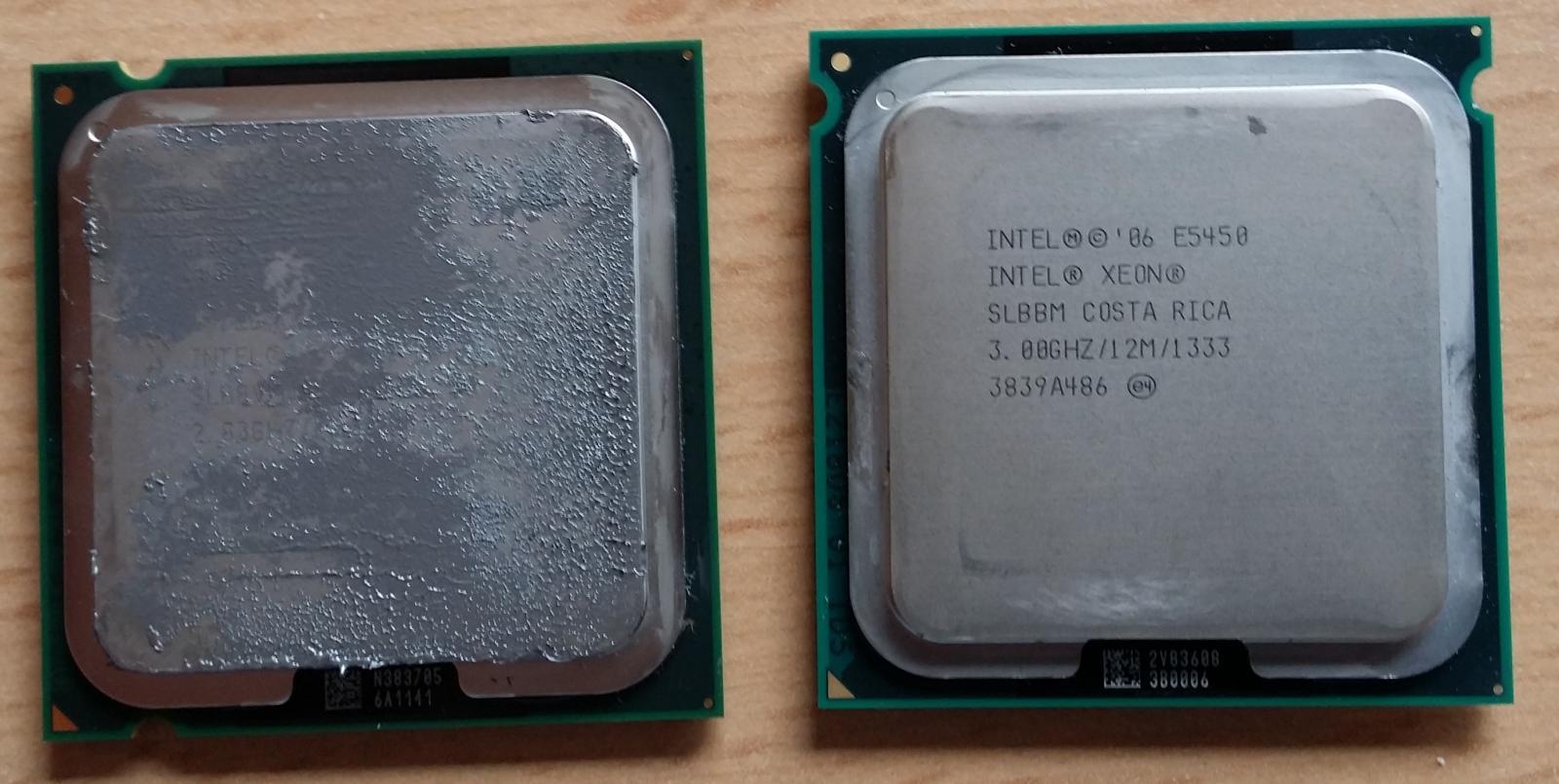 Sockel 775 Am Limit 771 Xeon Mit Mod Sticker Auf Normalen Procesor Quad Core Q8200 Soket Im Vergleich Zu Einem 2