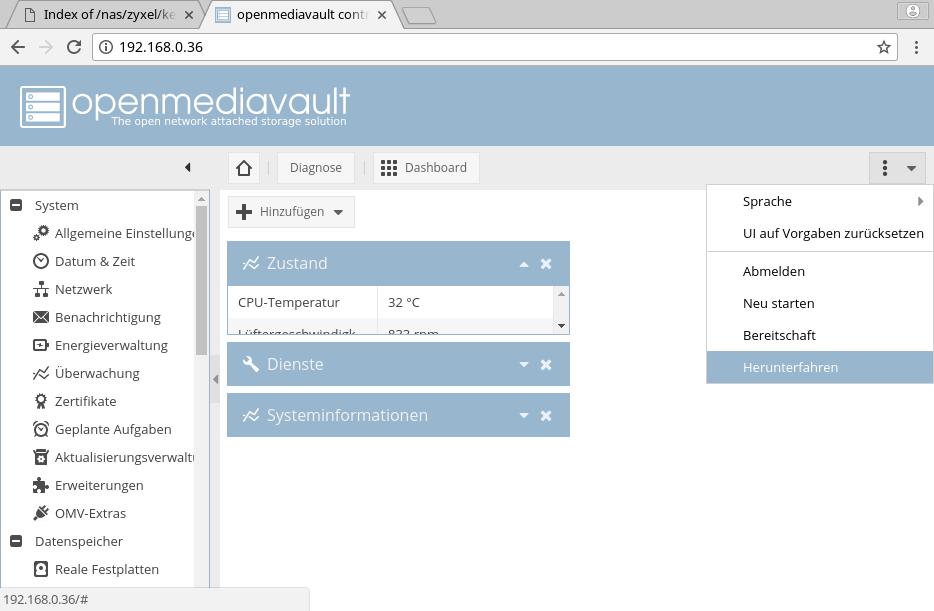 Zyxel NAS 520/540/542 mit Debian und OpenMediaVault (OMV) betreiben  |